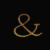 "12 Pack - 1.5"" Gold Rhinestone Monogram Sticker Self Adhesive Bling Diamond Letters For DIY"