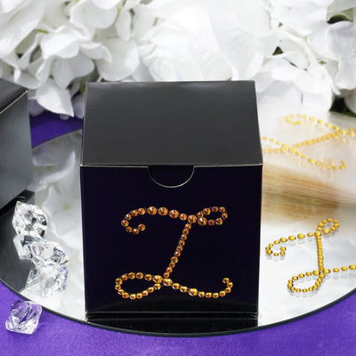12 Pack Gold Letter Endless Diamond Rhinestones Sticker