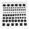 510 Pcs Multi Shaped Black Diamond Rhinestone Stickers