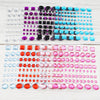 510 Pcs Multi Shaped Fushia Diamond Rhinestone Stickers