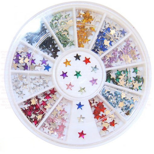 600 Pcs Pink Diamond Rhinestone Star Shaped Stickers