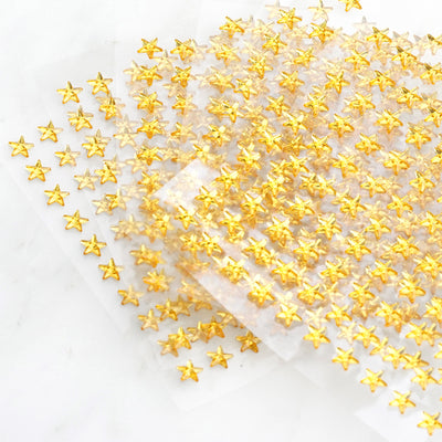 600 Pcs Gold Diamond Rhinestone Star Shaped Stickers