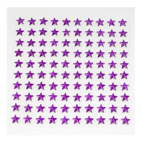 600 Pcs Purple Diamond Rhinestone Star Shaped Stickers