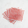 600 Pcs Red Diamond Rhinestone Star Shaped Stickers