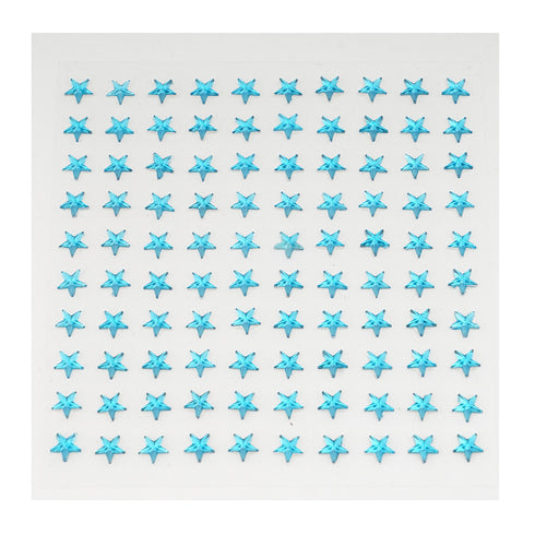 600 Pcs Turquoise Diamond Rhinestone Star Shaped Stickers