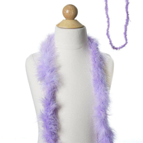 Deluxe Marabou Ostrich Feather Boas Color Lavender Size