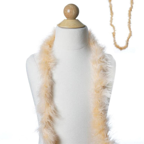Deluxe Marabou Ostrich Feather Boa - Peach- 2 Yards