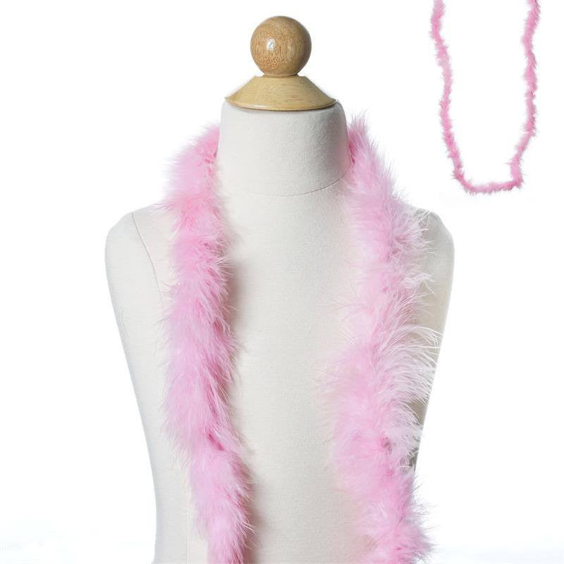 Deluxe Marabou Ostrich Feather Boas Color Pink Size