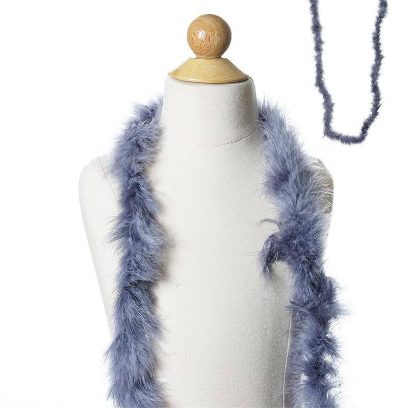Deluxe Marabou Ostrich Feather Boas Color Charcoal Pewter