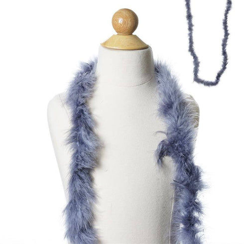 Deluxe Marabou Ostrich Feather Boa-Charcoal Pewter-2 Yards