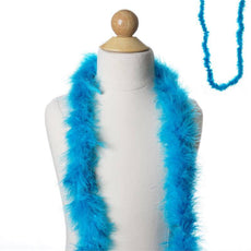 Deluxe Marabou Ostrich Feather Boa-Turquoise-2 Yards
