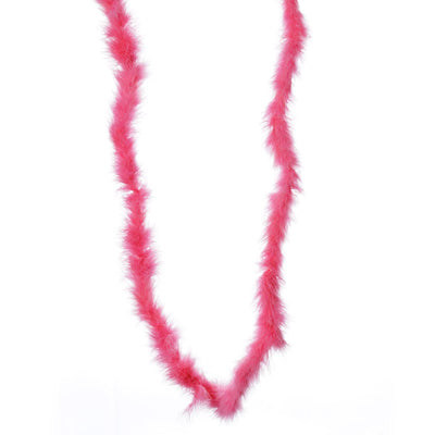 Deluxe Marabou Ostrich Feather Boa-Hot Pink-2 Yards