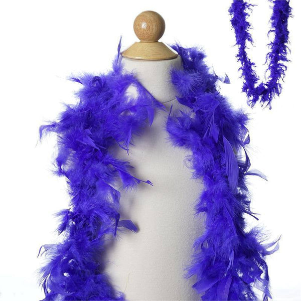 Lush-Chandelle Turkey Boas-Royal Blue-2 Yards