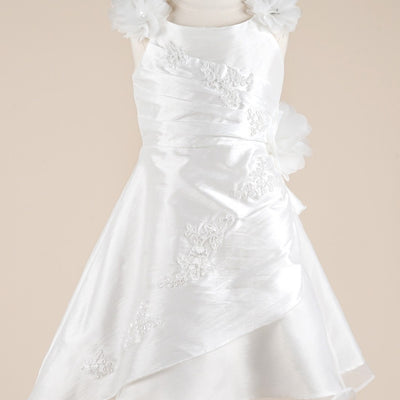 Fairy White Floral Tulle Dress - White
