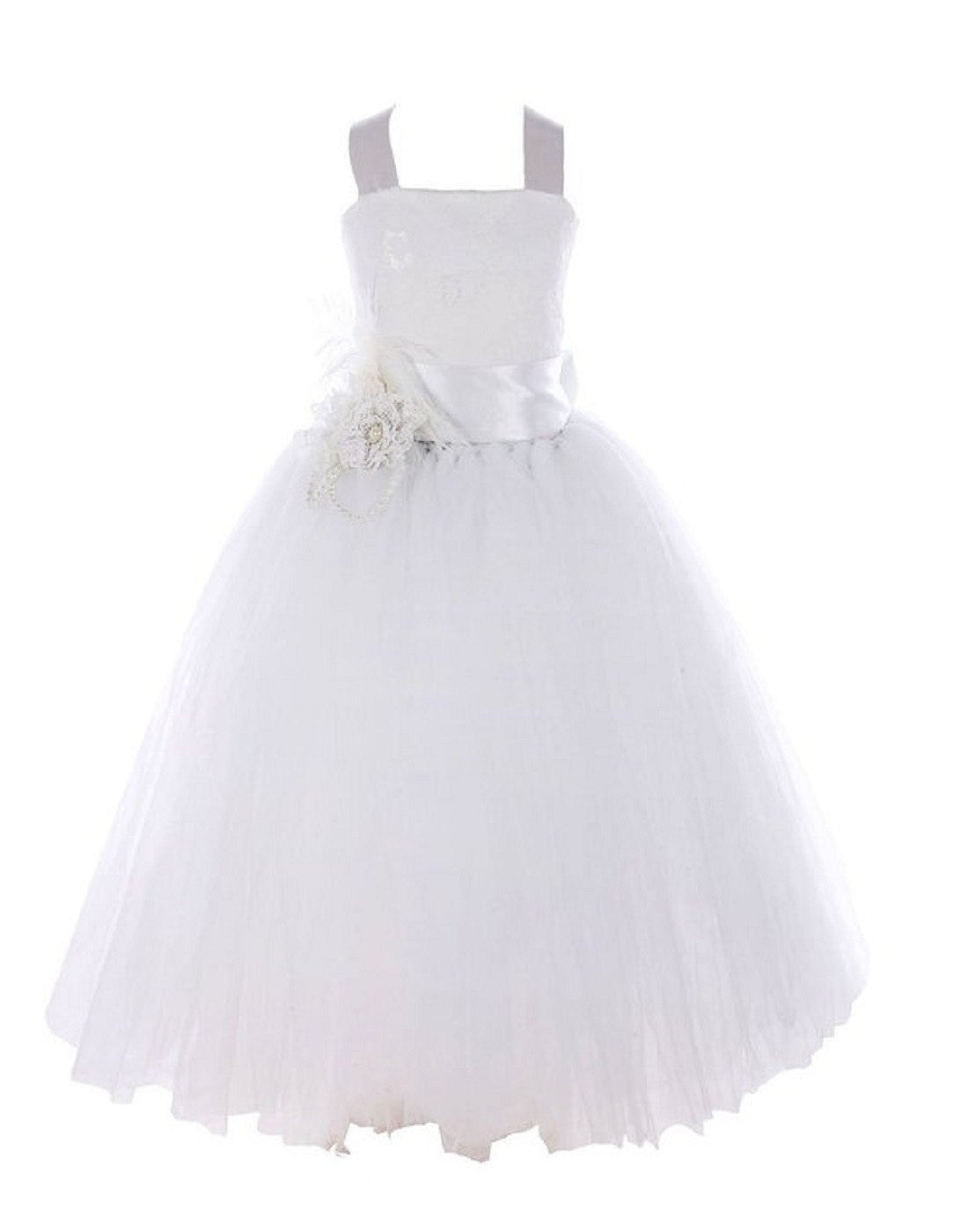 Fairy tutu flower girl dress white efavormart fairy tutu flower girl dress white mightylinksfo