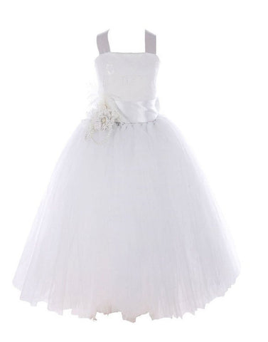 Fairy Tutu Flower Girl Dress - White