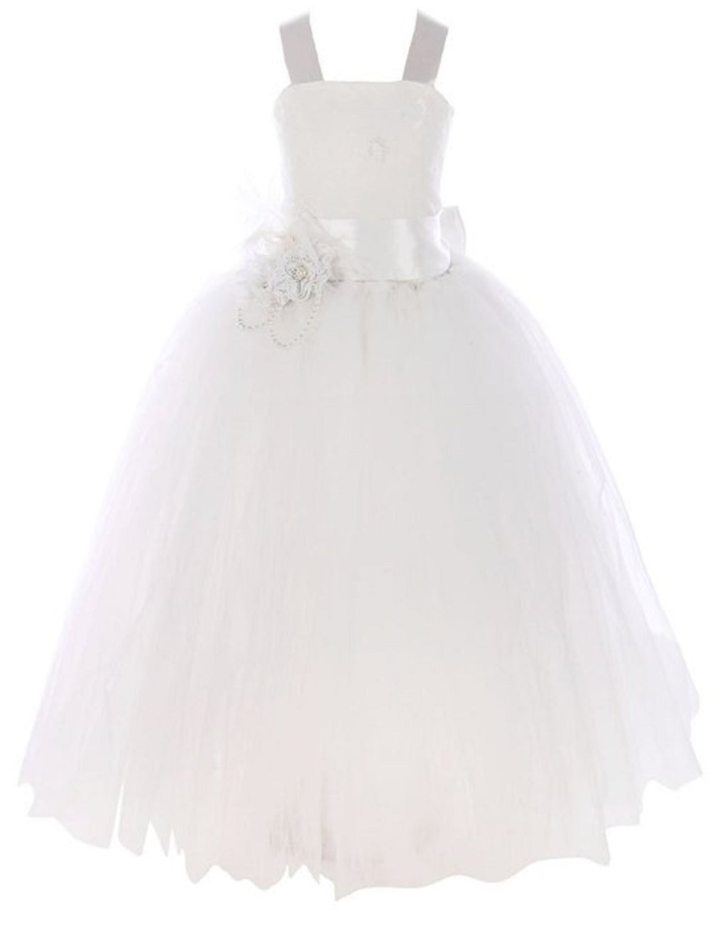 Fairy Tutu Flower Girl Dress Ivory
