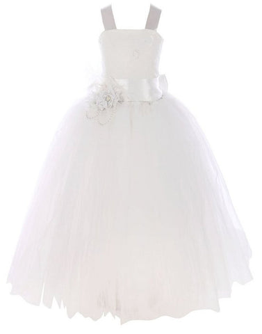 Fairy Tutu Flower Girl Dress - Ivory