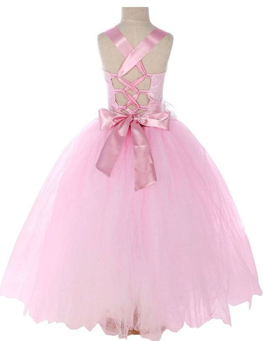 Fairy Tutu Flower Girl Dress Pink