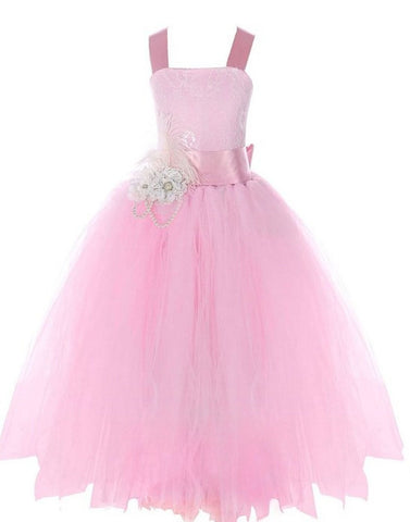 Fairy Tutu Flower Girl Dress - Pink