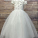 Enticing Off the Shoulder Tulle Dress - Ivory
