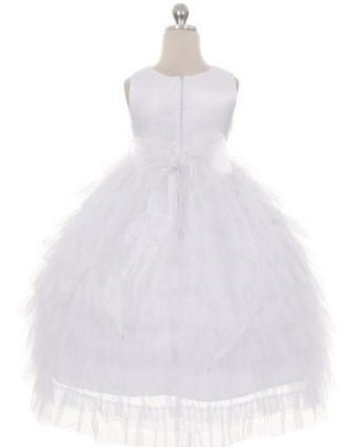 Enchanting Mesh Layered Princess Dress - White