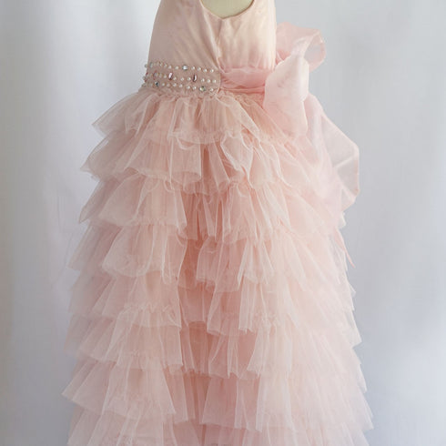 Enchanting Mesh Layered Princess Dress - Pink