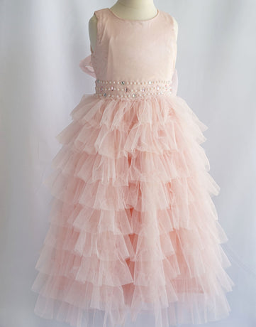 8fb679806 Flower Girl Dress Mesh Layered Princess Dress Wedding Dress Pink Party Dress  Special Occasion Dress