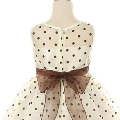 9fe81114951d Polka Dot Organza Overlay Dress with an Organza Sash - Infant Size ...
