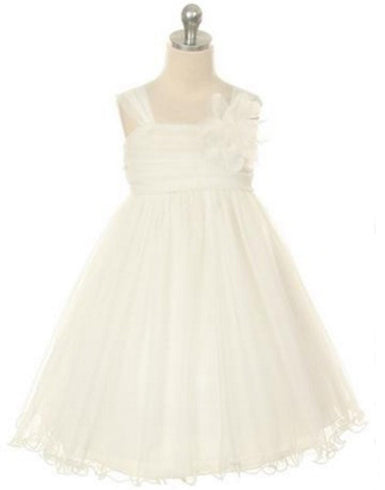 Compelling Mesh and Taffeta Overlay Dress - Ivory