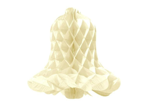 "16"" Bell-Shaped Honeycomb Paper Lantern - Ivory/12pcs"