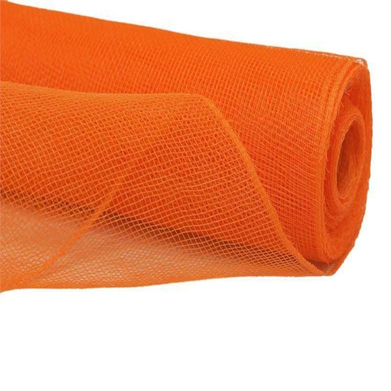 21 inch x 10 yard Twirl-N-Wrap Mesh Roll - Orange