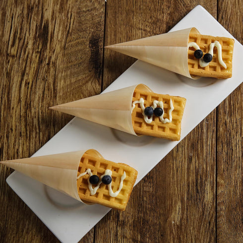 Pinewood Food Cones , Wood Cone, Wooden Cone