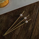 5 inch Handmade Natural Bamboo Skewers Cocktail Picks with Pearls, Eco Friendly Cocktail Sticks