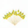 100 Pack- 5 inch Pineapple Party Picks, Bamboo Skewers, Decorative Top Cocktail Sticks
