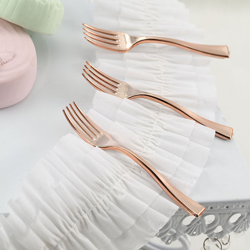 Heavy Duty Plastic Forks, Mini Appetizer Forks