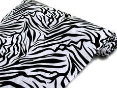 "Safari Zebra Fabric Bolt 54"" x 10Yards - Black / White"