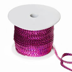 80 Yard Decorative Wedding Party Sequin Trim Roll - Fushia