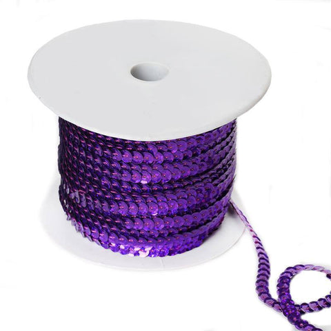 80 Yard Decorative Wedding Party Sequin Trim - Purple