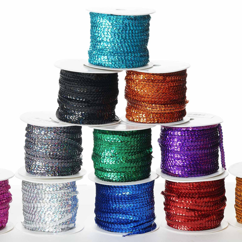 80 Yard Decorative Wedding Party Sequin Trim - Red