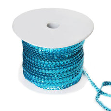 80 Yard Decorative Wedding Party Sequin Trim - Turquoise