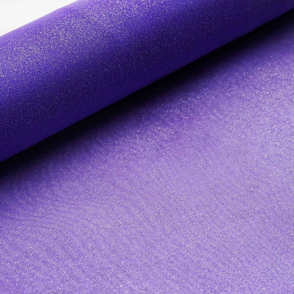 "12""x10 Yards Purple Glittering Organza Fabric Bolt"