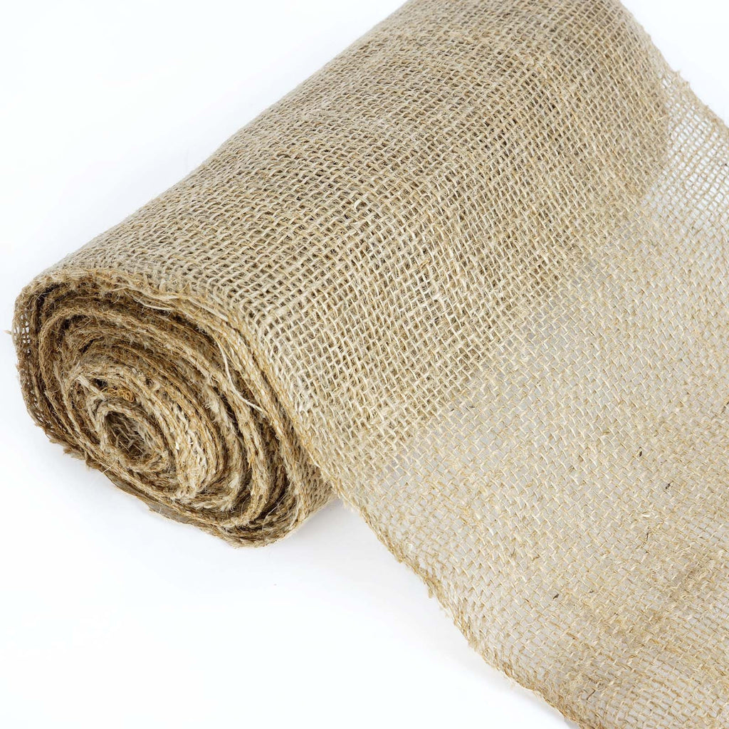 "CHAMBURY CASA Fine Rustic Burlap Bolt Natural Tone 12""x10 Yards"