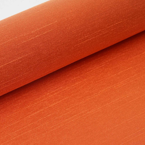"Premium Slub Polyester Bridal Dress Fabric Bolt By Yard - Orange - 12""x10 Yards"