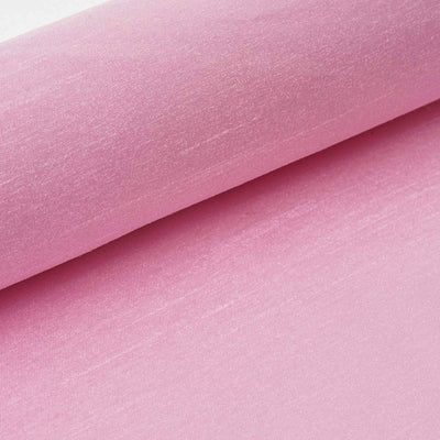 "Premium Slub Polyester Bridal Dress Fabric Bolt By Yard - Pink- 12""x10 Yards"