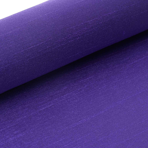 "12""x10 Yards Slub Polyester Fabric Bolt - Purple"