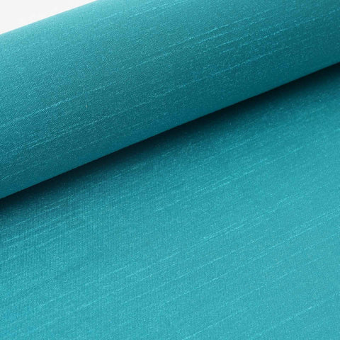 "Premium Slub Polyester Bridal Dress Fabric Bolt By Yard - Turquoise- 12""x10 Yards"