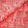 "54"" X 4 Yards Rose Quartz Satin Rosette Fabric by the Bolt"
