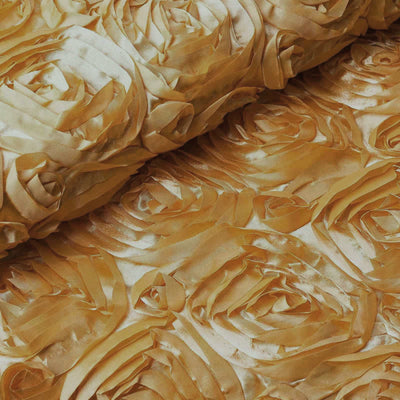 "54"" X4 Yards Wonderland Rosette Fabric Bolt - Gold"