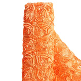 "Wedding Party Wonderland Rosette Fabric Bolt By Yard - Orange - 54"" x 4 Yards"